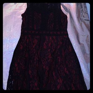 Dresses - Red and Black dress lace